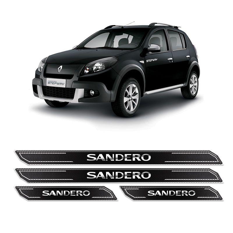 Kit Soleira Da Porta Diamante Sandero 2007/2014 Resinada