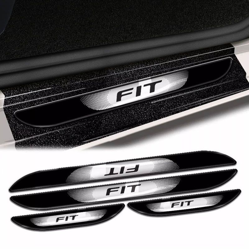 Kit Soleira Da Porta Fit 2015 a 2018 Com Black Over Resinado