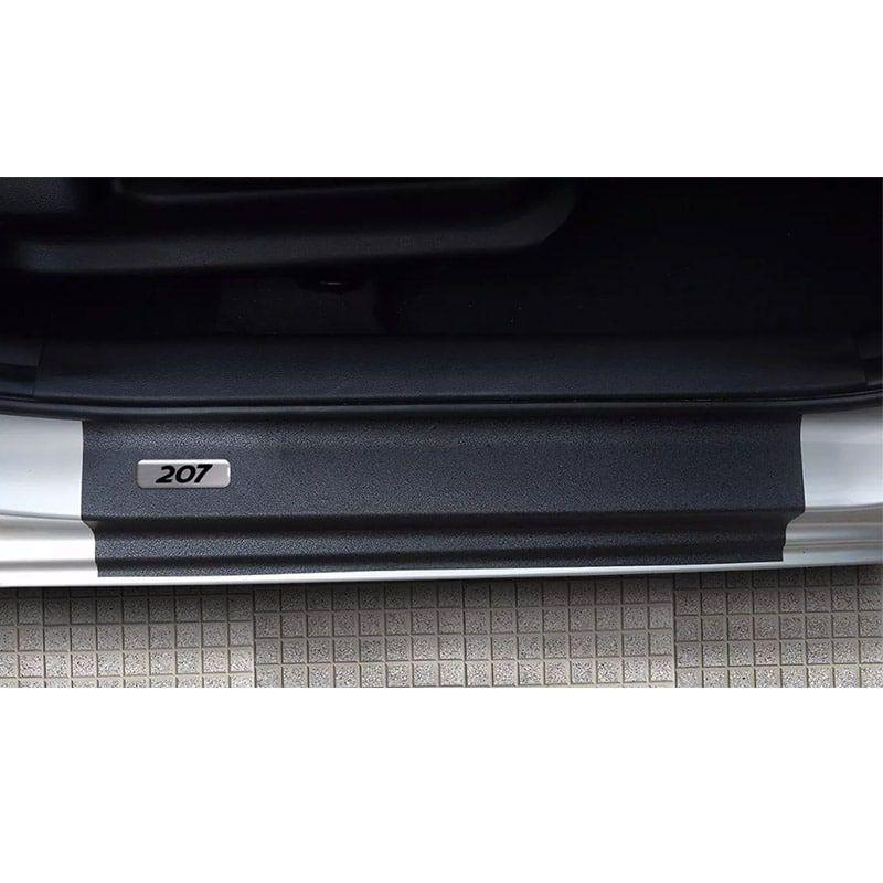 Kit Soleira da Porta Peugeot 207 Resinado Com Black Over