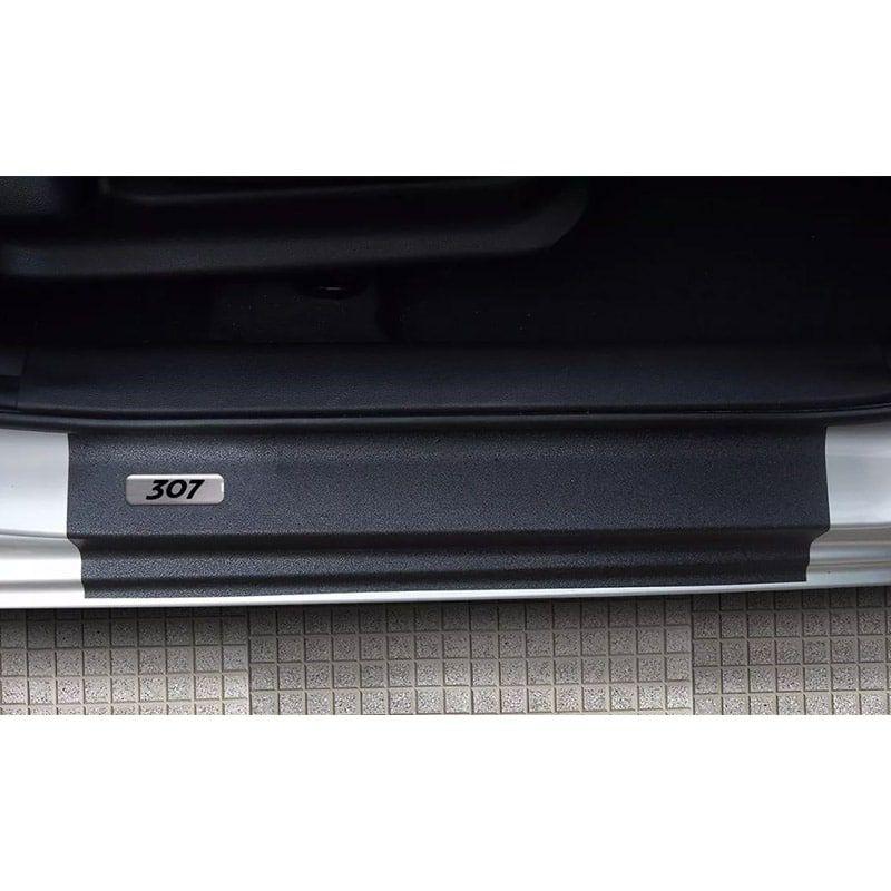 Kit Soleira da Porta Peugeot 307 Resinado Com Black Over