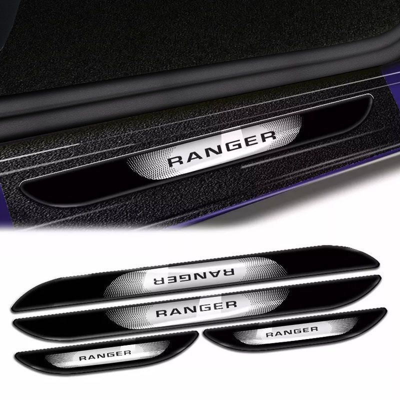 Kit Soleira Da Porta Ranger 2013 a 2019 Com Black Over