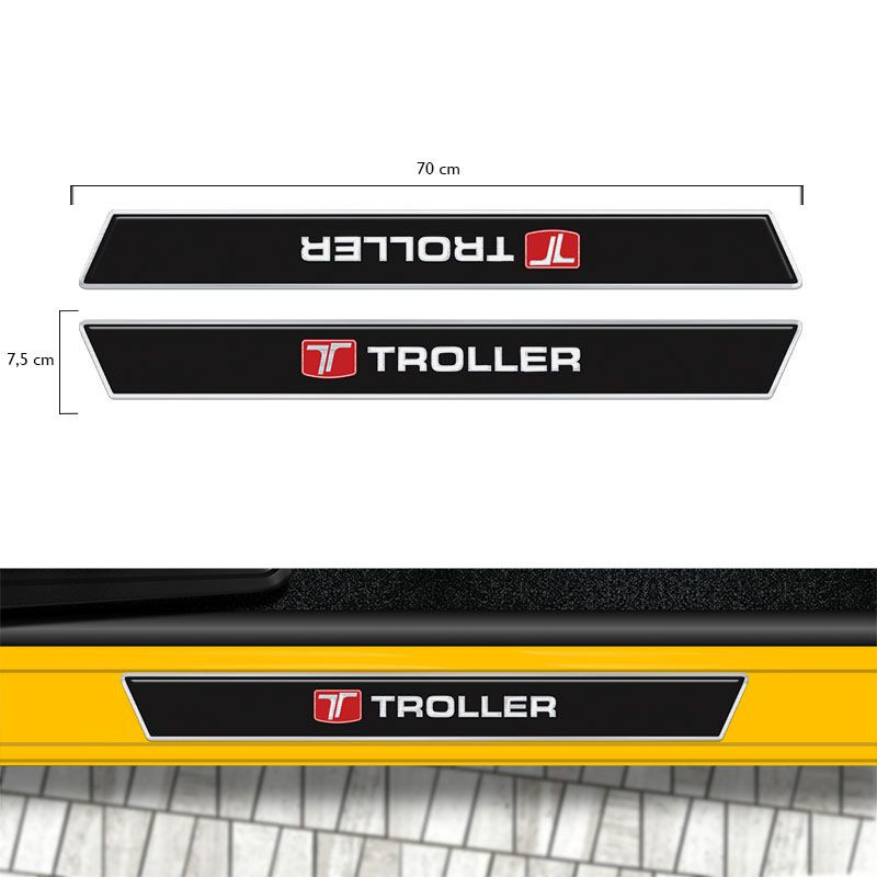 Kit Soleira Da Porta Troller T4 2005/2017 Preto Resinado