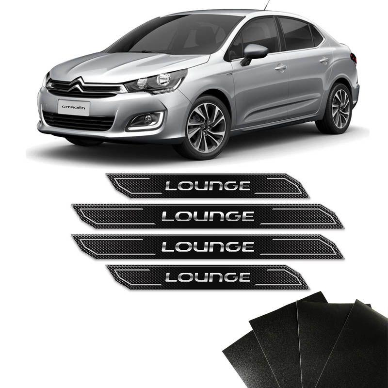 Kit Soleira Diamante C4 Lounge 2014/19 Com Protetor De Porta