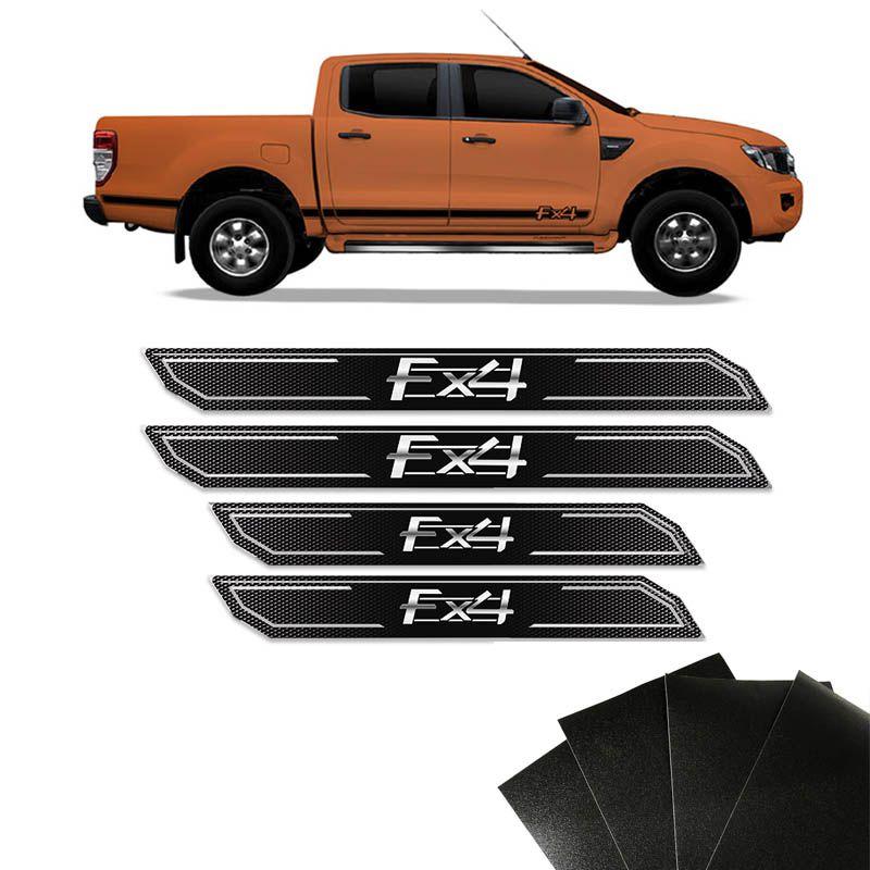 Kit Soleira Diamante Ford Ranger Fx4 Com Protetor de Porta