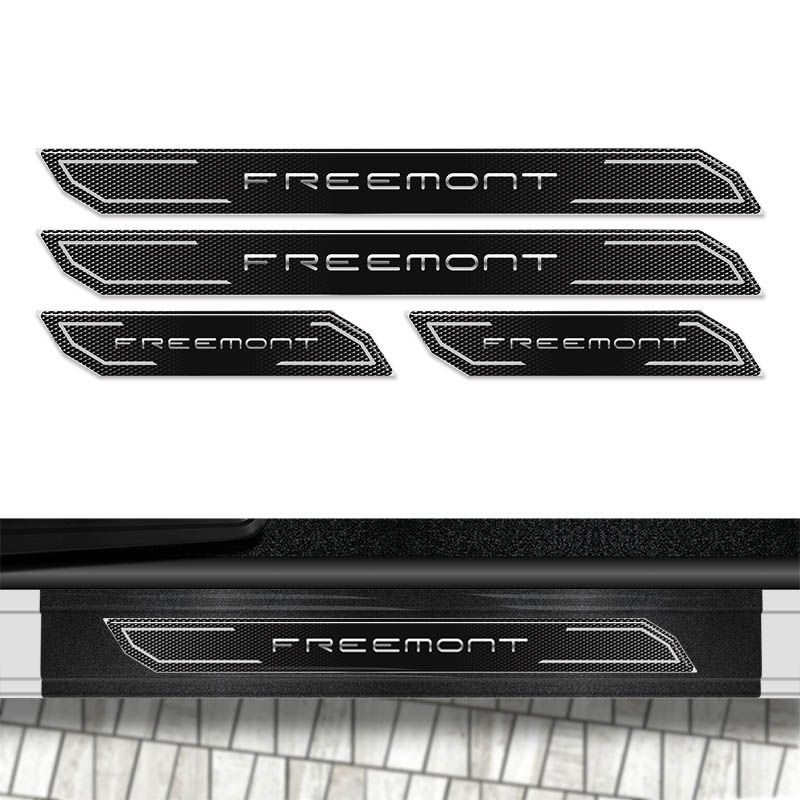 Kit Soleira Diamante Freemont 2012/15 Com Protetor de Porta