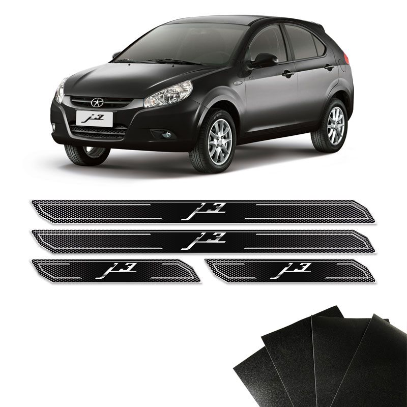 Kit Soleira Diamante Jac J3 Hatch Sedan E Protetor De Porta