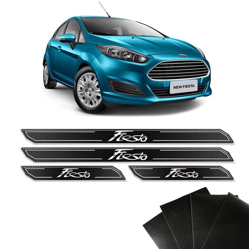 Kit Soleira Diamante New Fiesta Hatch Sedan Com Protetor