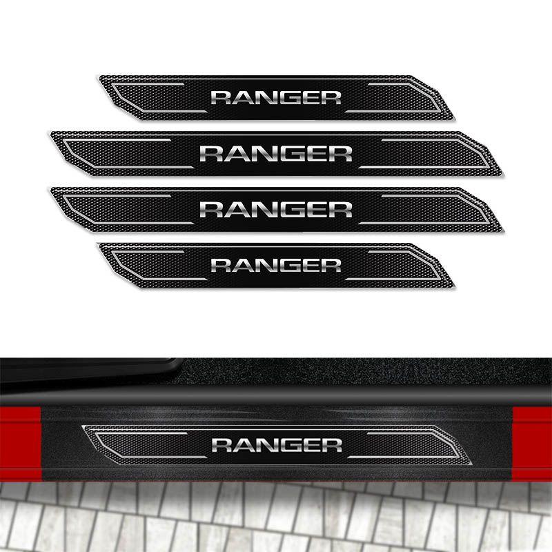 Kit Soleira Diamante Ranger 2012 A 2019 E Protetor de Porta