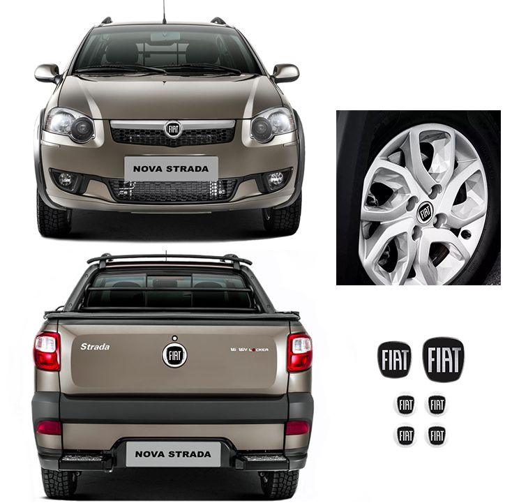 Kit Strada Trekking Branco + Emblemas + Soleira C Black Over
