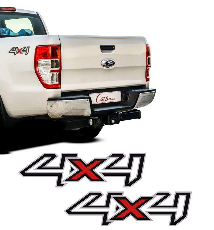 Par de Adesivos Laterais 4x4 Ford Ranger 2013 14 15 16 Preto