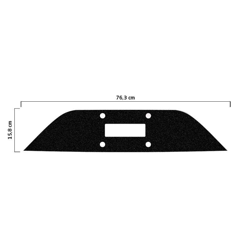 Protetor Traseiro Fundo De Placa Fiat Mobi 18 Adesivo Black