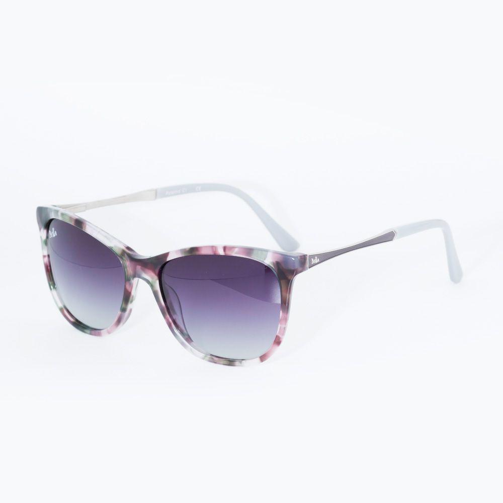 41ffc495b Óculos de Sol Bella Tartaruga Cinza MB 2226 - Óticas de Sá