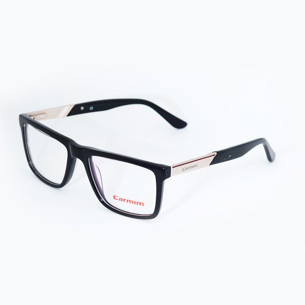 e95643032034e Óculos de Grau Carmim Preto Quadrado 41095 - Óticas de Sá