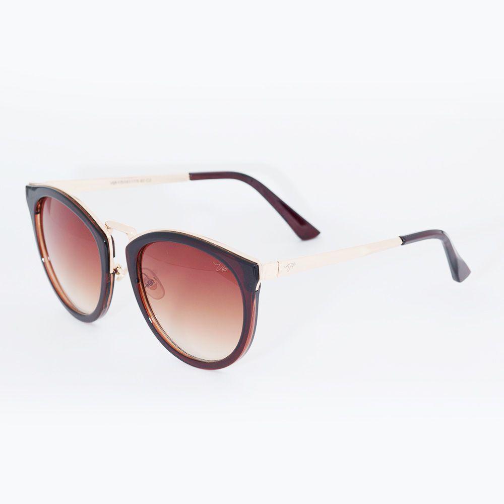 Óculos de Sol Gatinho Vip 17-161117 Marrom - Óticas de Sá 005ad0e9e2