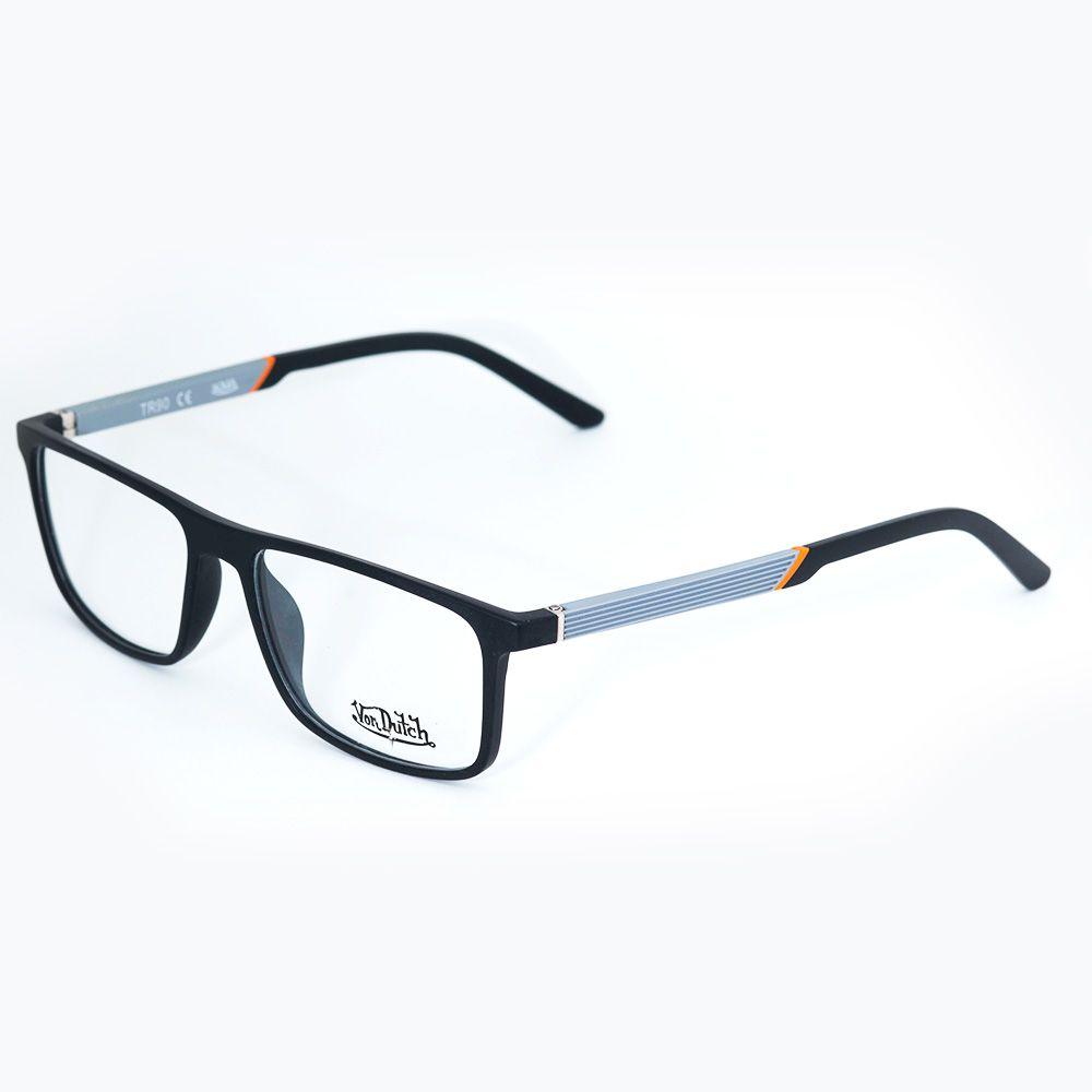 3fd5f7a48 Óculos de Grau Von Ducth Preto Fosco 613434 - Óticas de Sá