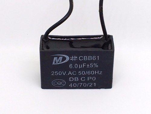 Capacitor 6 Uf 250v 40/70/21