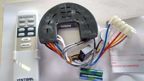 Controle Remoto E Receptor P/ventiladores Teto Ventisol 127v