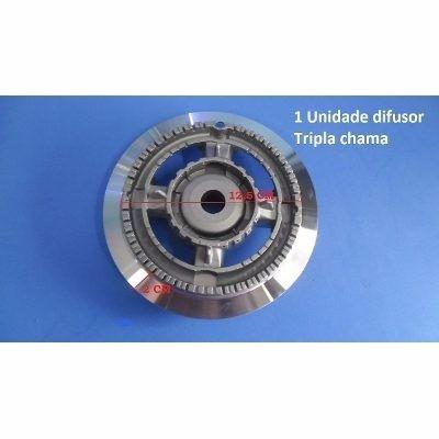 Queimador Tripla Chama Cooktop Fischer Original C/ Aba  - HL SERVICE