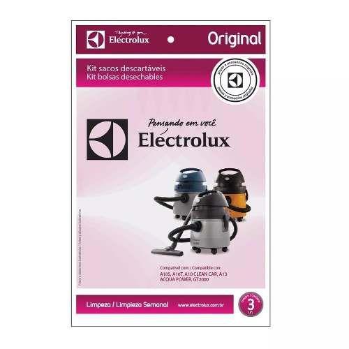 Kit Com 3 Sacos Descartáveis Gt 2000 Pro - Electrolux