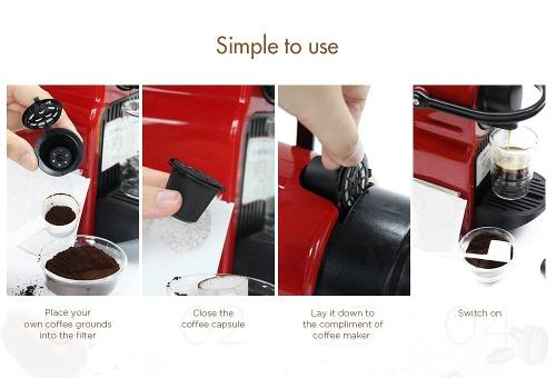 Filtro Dolce Gusto Reutilizável Capsula Filtro Café - Inox