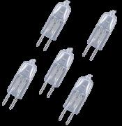 Kit Lâmpada Halógena para Coifas 12v 20w  - 5 unidades