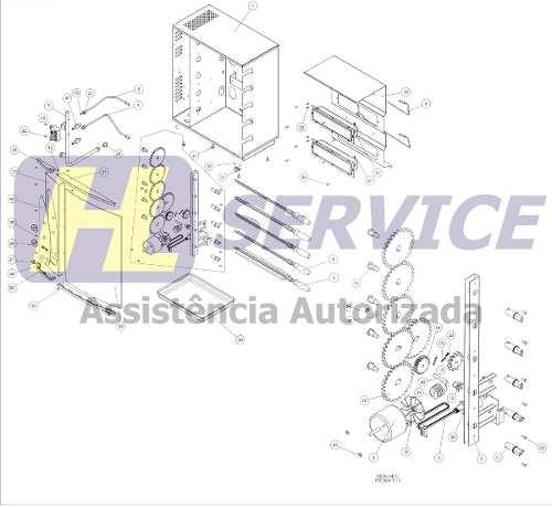 Engrenagem 28 Dentes Churrasqueira Arke Agr-05  - HL SERVICE