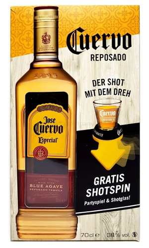 Tequila José Cuervo Reposado 750ml Gold - Grátis Shot Spin