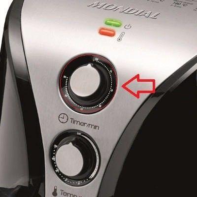 Botão Do Timer Fritadeira Air Fryer Mondial AF-01 / AF-02 / Naf-03