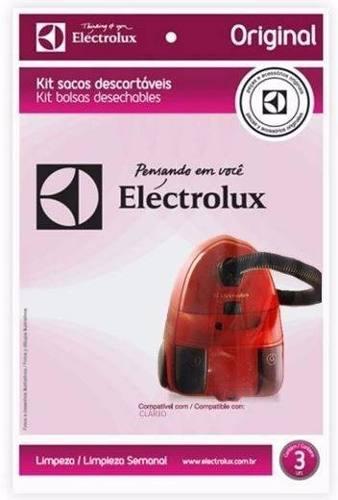 Saco Aspirador Eletrolux Clario Original C/ 3u