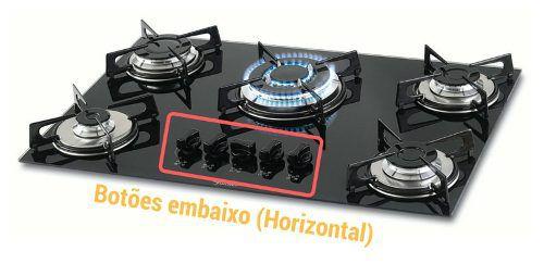 Botão Cooktop 5 Peças - Diversas Marcas (Horizontal)  - HL SERVICE