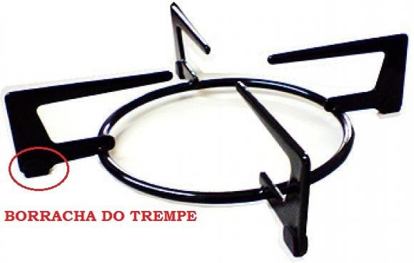 Kit 01 Grelha Tripla Chama + 32 Borracha Trempe