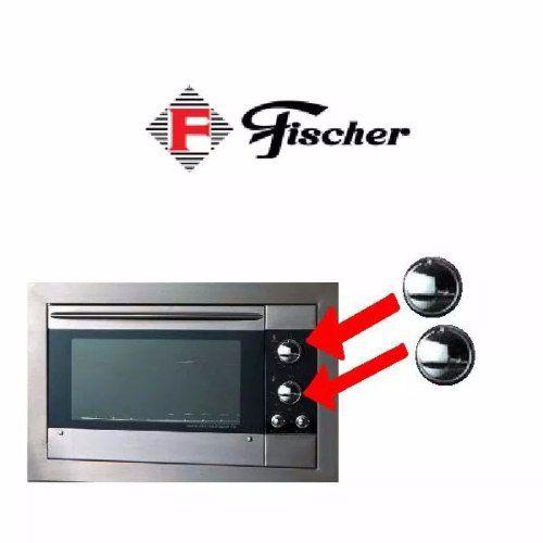Kit 02 Botões Cromados Grandes Forno Fischer
