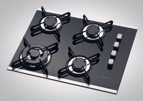Kit 04 Botões CookTop Built Vertical Prata  - HL SERVICE