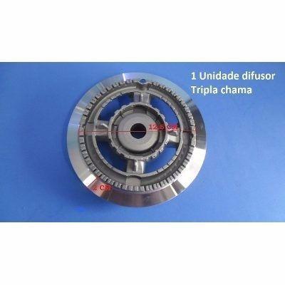 Kit 05 Grelha Trempe + 5 Espalha Chamas + 5 Difusor Tripla Chama  - HL SERVICE