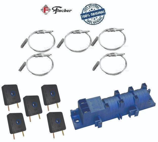 Kit 5 Interruptor + 5 Eletrodo + 1 Usina Cooktop Fischer    - HL SERVICE