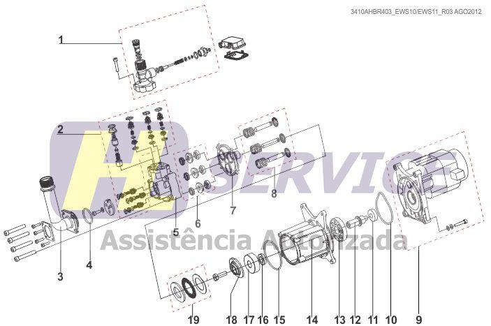 KIT GAXETA (VEDAÇÃO SELO) REPARO LAVADORA EWS 10 E UWS 10 ELECTROLUX (EWS10024)  - HL SERVICE