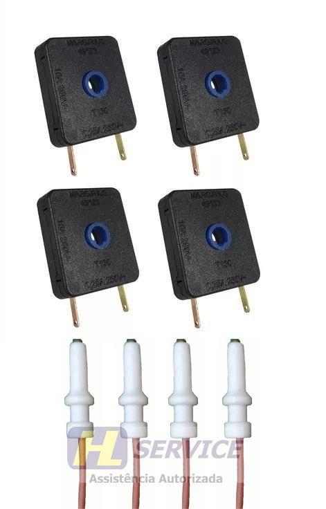Kit Interruptor + Eletrodo Fogão Cooktop Fischer 4 Bocas  - HL SERVICE
