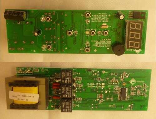 Kit Placa + Par de Travas da Porta Lumen Griil Bancada 220v  - HL SERVICE