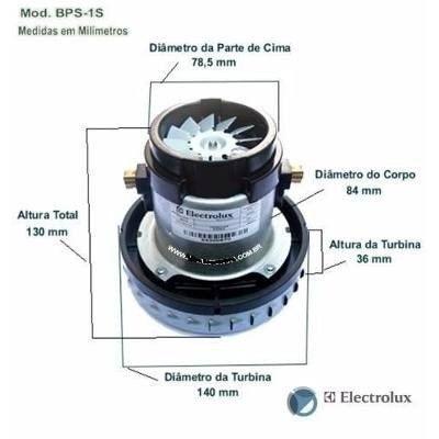 MOTOR ASPIRADOR BPS1S 127V ELETROLUX (64300670)