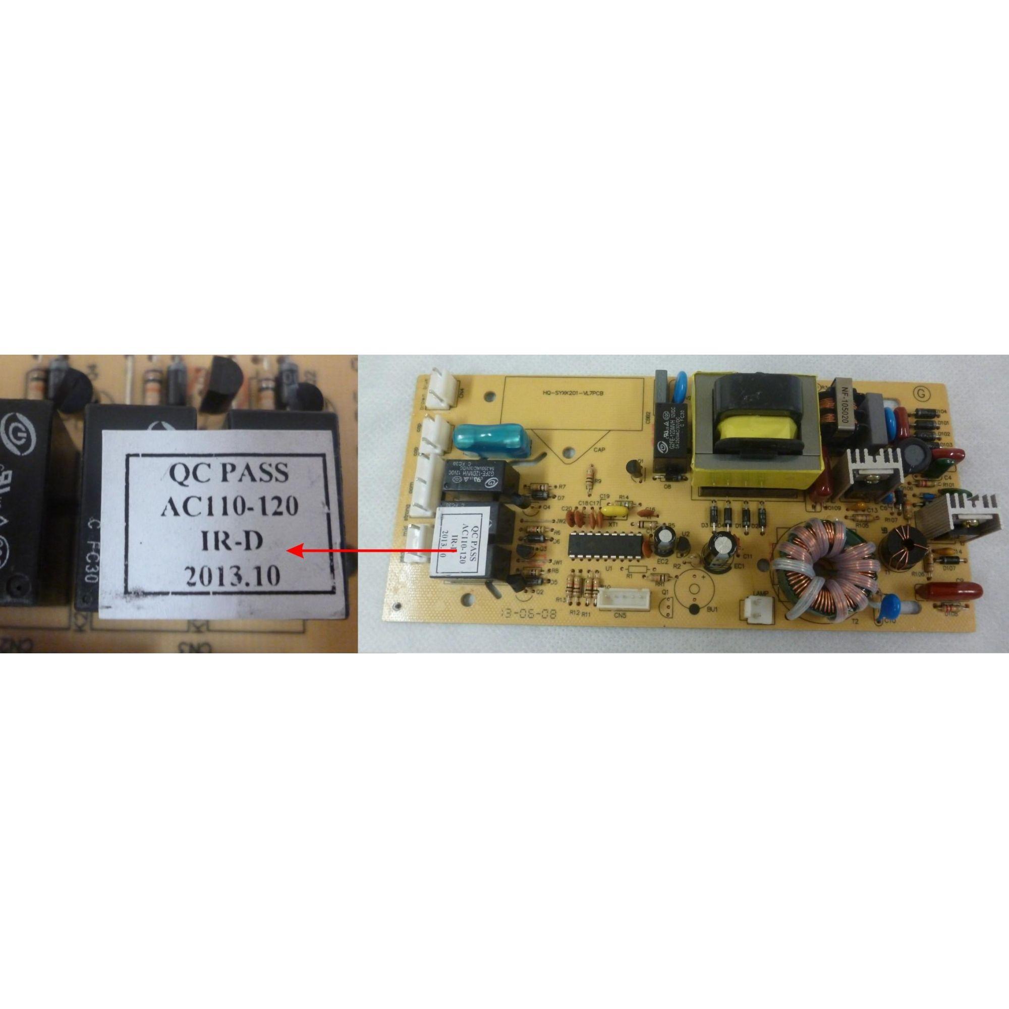 PLACA PRINCIPAL COIFA FISCHER STEEL 127V  - HL SERVICE