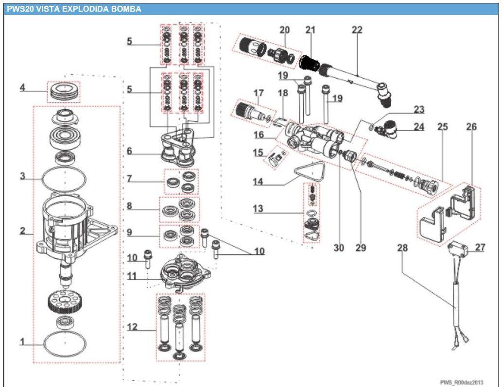 Stop Total Completo Lava Jato Electrolux PWS20