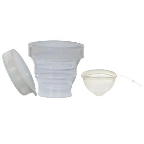 Kit Disco Menstrual Unique G 60ml + Copo Esterilizador + Saquinho de Tecido