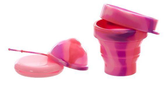 Kit Disco Menstrual Unique P 30ml + Copo Esterilizador Pink Love + Saquinho de Tecido