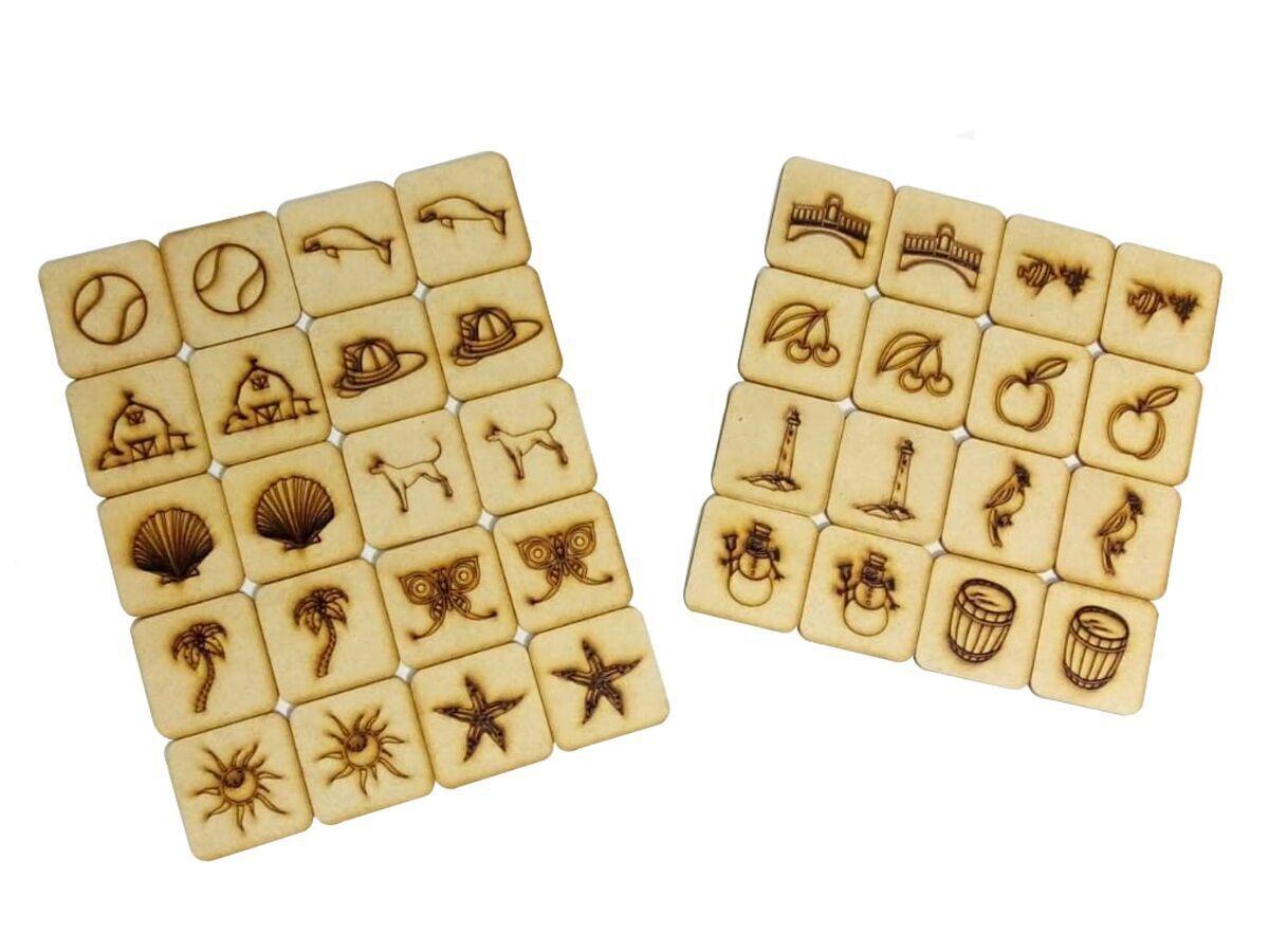 7 Jogos Da Memória Mdf Caixa Com 36 Peças