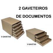 1 Gaveteiro Organizador de 5 Gavetas + 1 Gaveteiro Organizador de 3 Gavetas