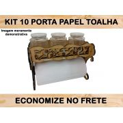 Kit 10 Porta Rolos Em Mdf Cru Papel Toalha