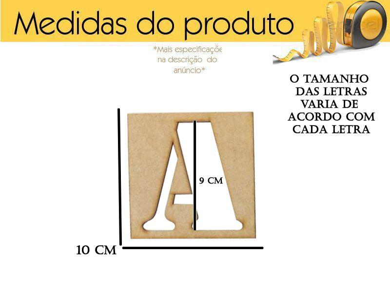 3 Kits De Stencil Em Mdf Letras