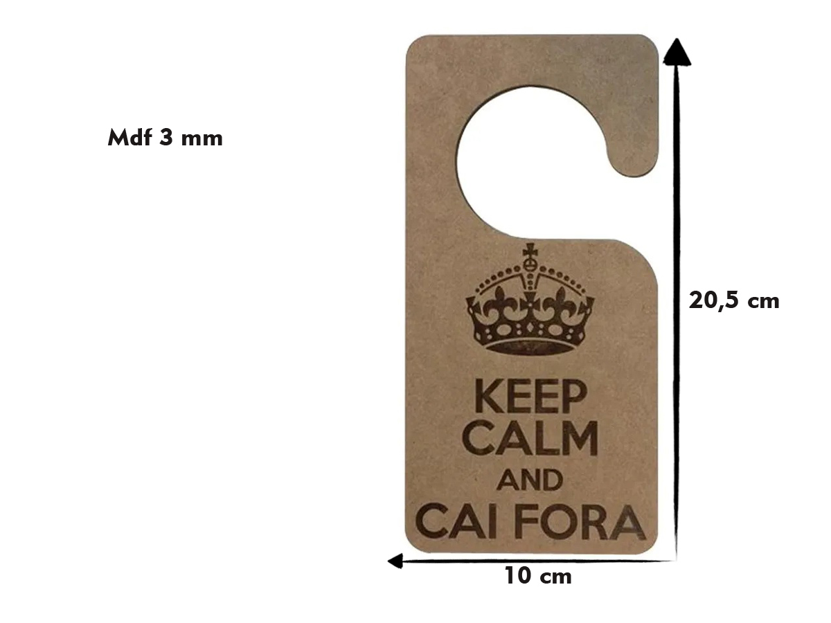 3 Placas P/ Maçaneta Keep Calm And Cai Fora