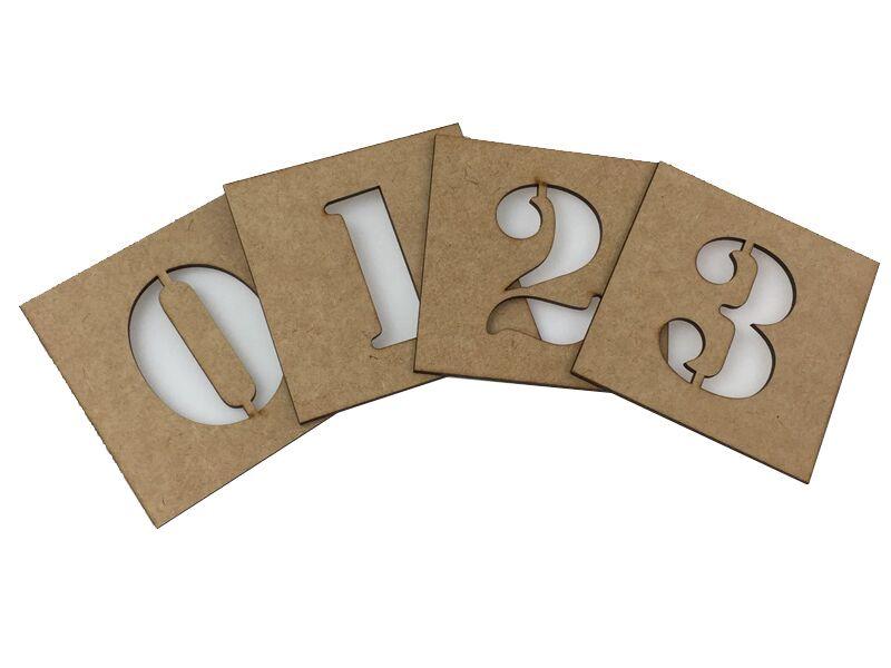 5 Kits De Stencil Em Mdf Numeros