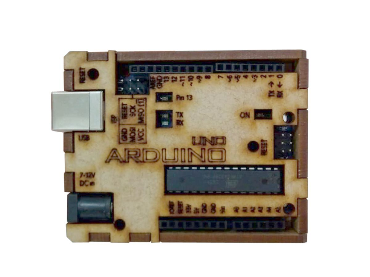 8 Cases Caixa Protetora Em Mdf P/ Arduino Uno